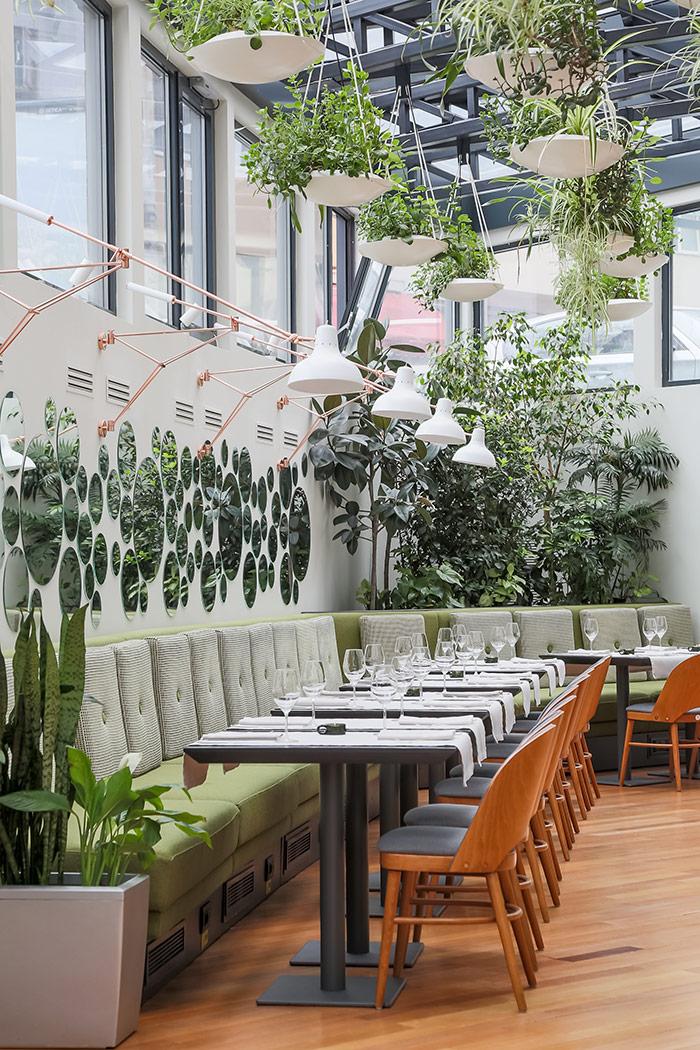 The Hanging Gardens Of Restaurant Berthelot I Love Colours Design