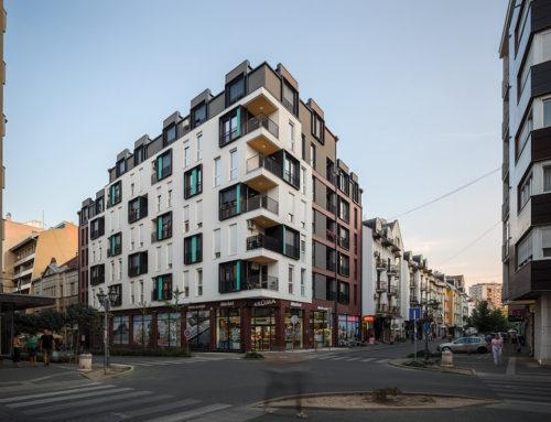 Residental and Commercial Building by Lazar Kuzmanov & Miljan Cvijetić, Marina Pejić; Serbia