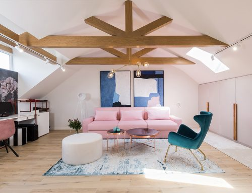 Pink Drops – A romantic attic by Jooca Studio; Romania