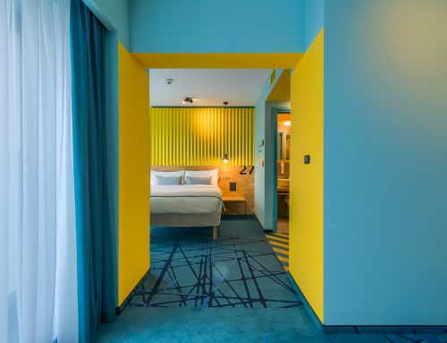 The Ibis Styles Bucharest Erbas by daac studio in collaboration with oblic studio; Romania